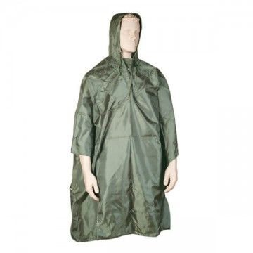 Poncho impermeable. Verde