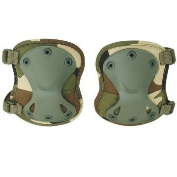 Pair of knee pads Airsoft of color camo.
