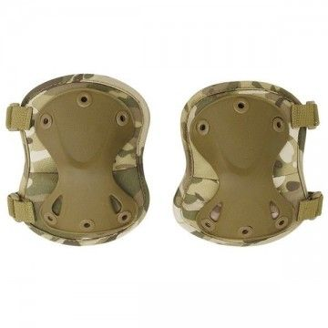 Paar Knie-pads Airsoft multicam Farbe.